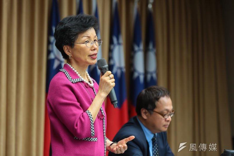 201704011-陸委會主委張小月11日召開「李明哲事件」國際記者會。(顏麟宇攝)
