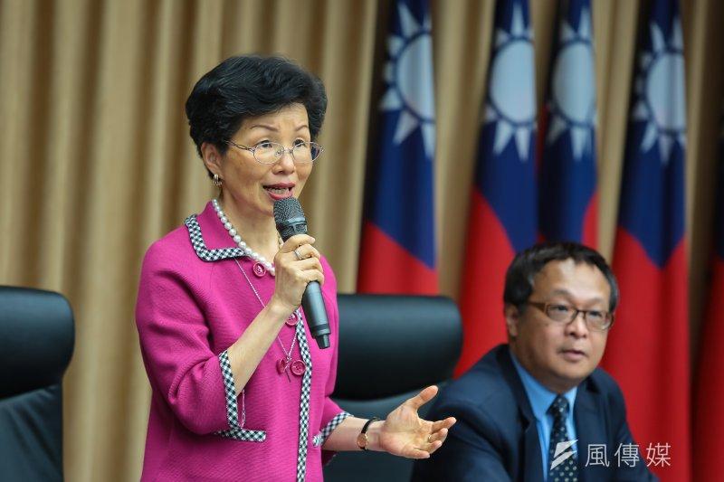 陸委會主委張小月11日召開「李明哲事件」國際記者會。(顏麟宇攝)