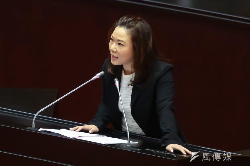 201704011-國民黨立委李彥秀11日於院會發言。(顏麟宇攝)