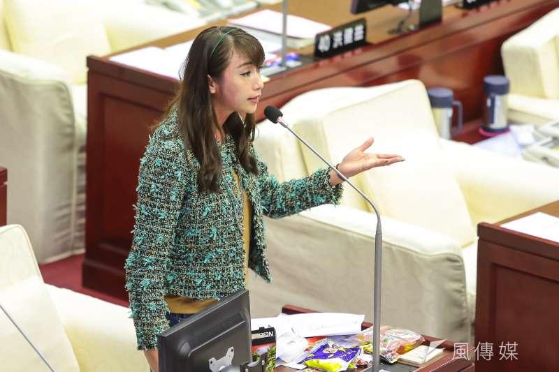 台北市議員許淑華。(顏麟宇攝)