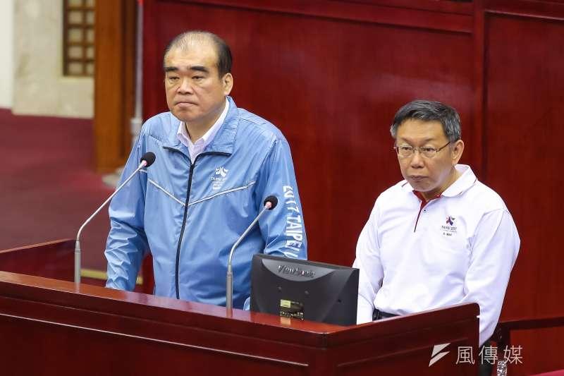 內政部長葉俊榮公布警界人事調整名單,台北市警察局長邱豐光(圖左)調任為警政署副署長。(資料照,顏麟宇攝)