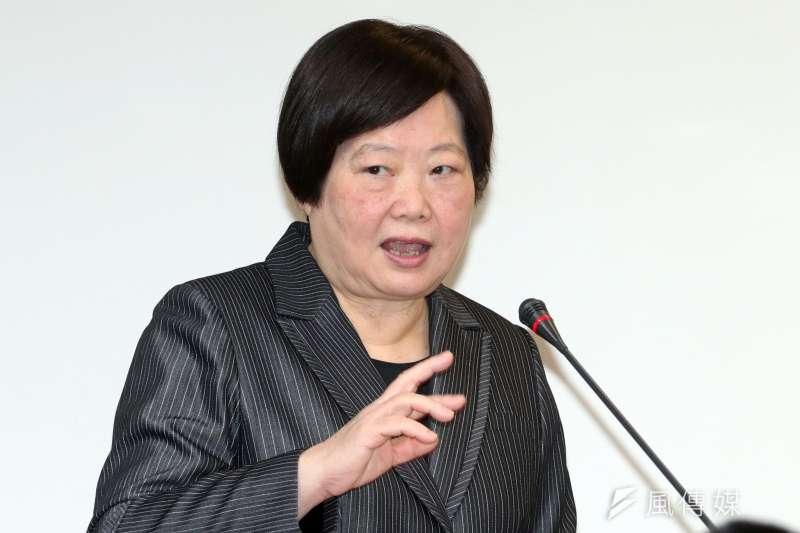20170412-勞動部長林美珠上午出席立法院衛環委員會。(蘇仲泓攝)
