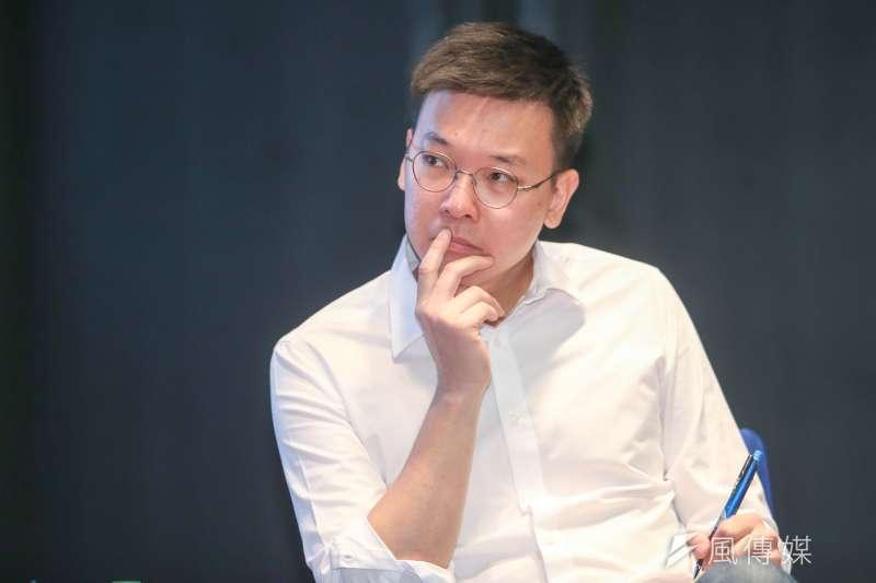 民進黨副秘書長林飛帆(見圖)表示,「不是民進黨要販售亡國感,而是明年的大選非常關鍵」。(資料照,陳明仁攝)