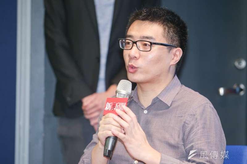 曾在北京被帶走、失蹤19天的中國媒體人賈葭16日談及李明哲事件,認為中國此舉,是要測試台灣還能失去什麼。(陳明仁攝)