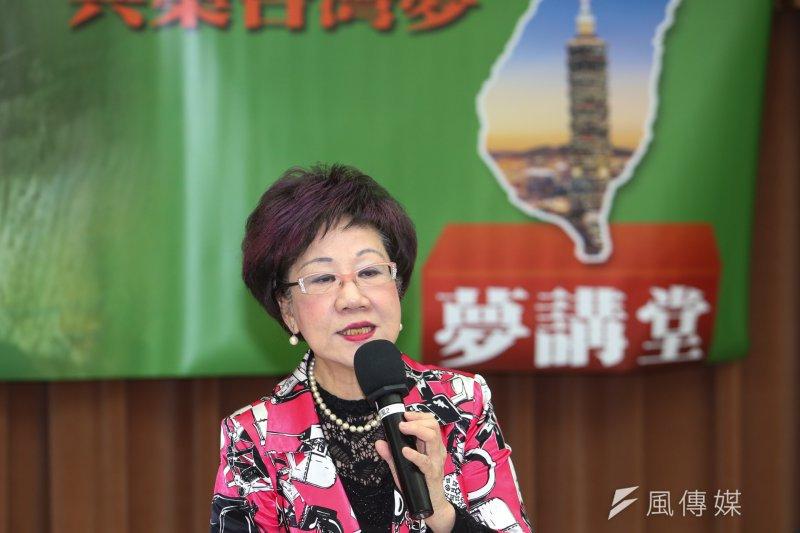 前副總統呂秀蓮表示,如果李明哲未順利解決,後續將引發更多難題,人民也將會對執政黨的印象大打折扣。(陳明仁攝)