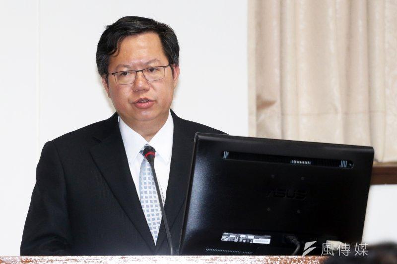 桃園市長鄭文燦17日出席前瞻基礎建設公聽會,對於軌道建設,表示地方蓋捷運的門檻很高,不是說蓋就蓋。(蘇仲泓攝)