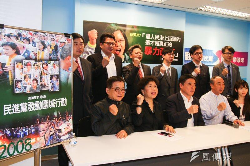 軍公教團體包圍立院發生衝突,國民黨副主席郝龍斌組成「年金陳抗者義務律師團」,已有11位律師投入響應。(陳明仁攝)