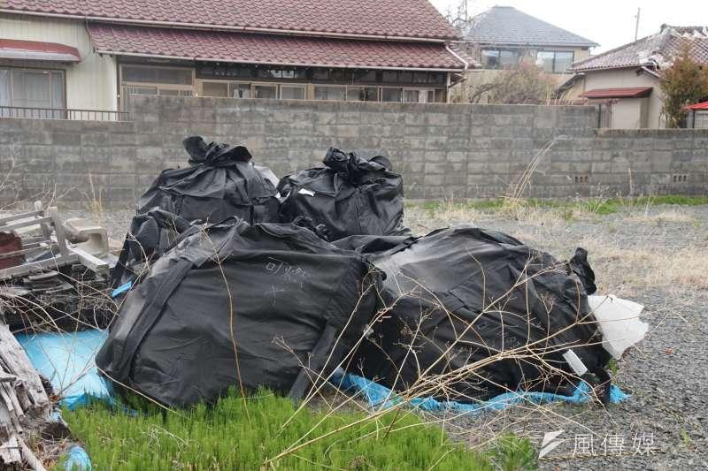 20170421-日本311東北大地震、福島核災受災區,浪江町一景,圖為核污染廢棄物。(盧逸峰攝)