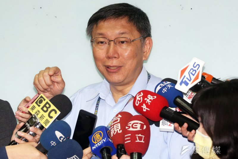台北市長談社會住宅問題。(資料照片,蘇仲泓攝)