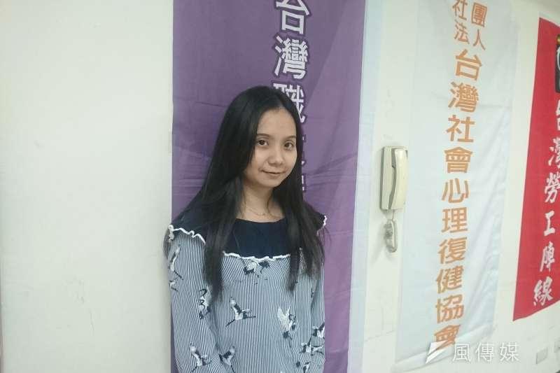 風數據/過勞專題。台灣職業安全健康連線執行長黃怡翎。(黃天如攝)