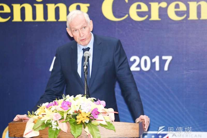 針對記者問及美國豬肉與牛肉問題,美國在台協會主席莫健(James Moriarty)表示,「如果美國必須維持對台灣的承諾,這應該是雙向的。」(資料照,陳明仁攝)