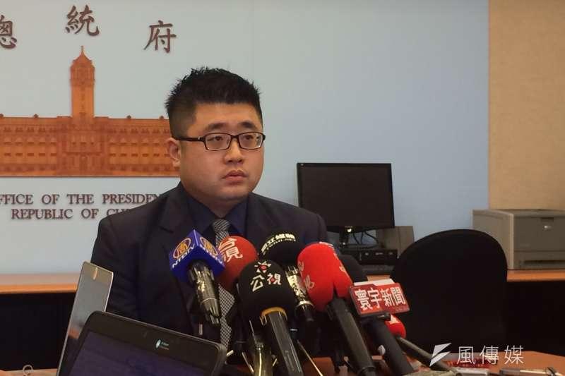 20170426-總統府發言人林鶴明指出,總統認為涉及總統職權的司改議題,必須要審慎討論。(石秀娟攝)
