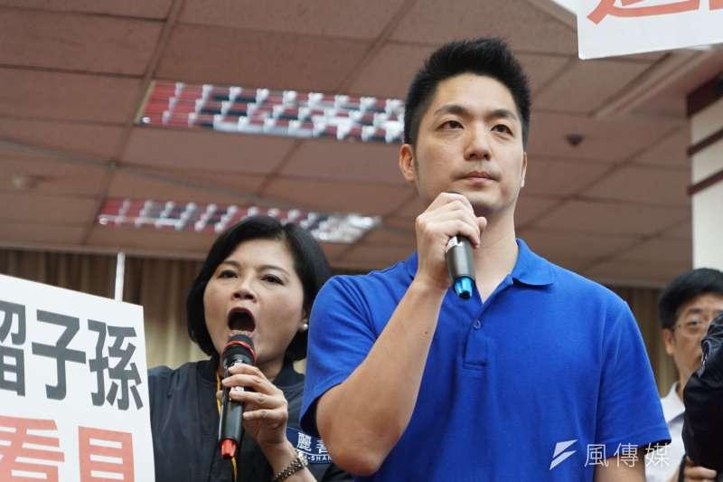國民黨立委蔣萬安慎重考慮參選台北市長。(盧逸峰攝)
