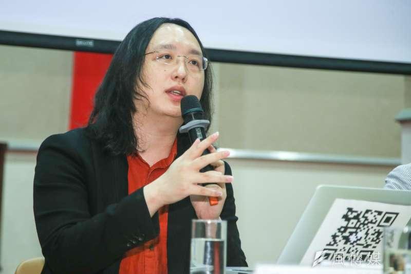 行政院數位政委唐鳳21日表示,個人在酒駕鞭刑議題上,並沒有既定立場,並強調該案提案連署目的,是希望社會正視酒駕累犯問題。(資料照,陳明仁攝)