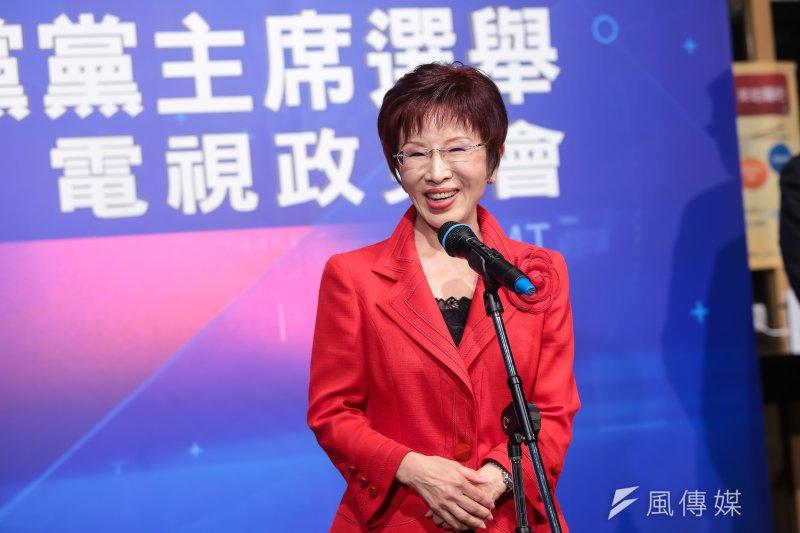 國民黨主席選舉候選人洪秀柱6日表示,只要是她擔任主席的一天,「台獨就絕對不會是中國國民黨的選項!」(顏麟宇攝)