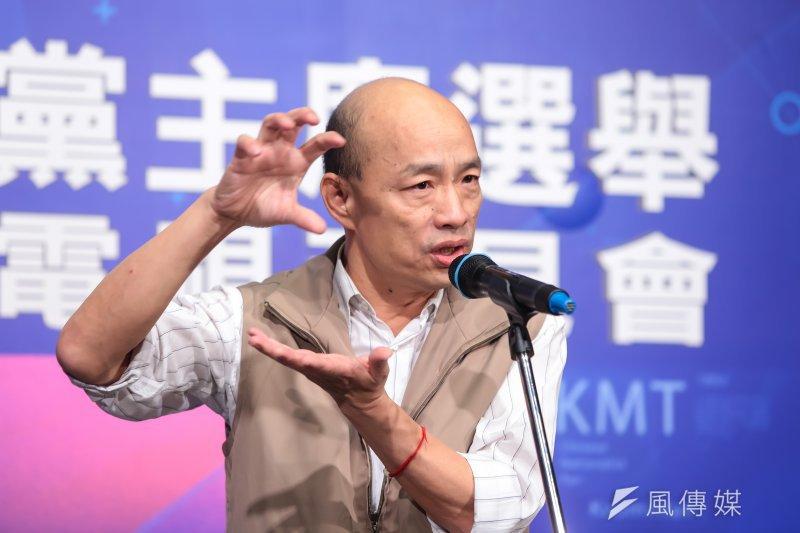 前北農總經理韓國瑜重新定義「台獨」,就是「比梅毒還可怕」,因為「梅毒只害老婆、孩子,台獨會害2300萬台灣同胞。」(顏麟宇攝)