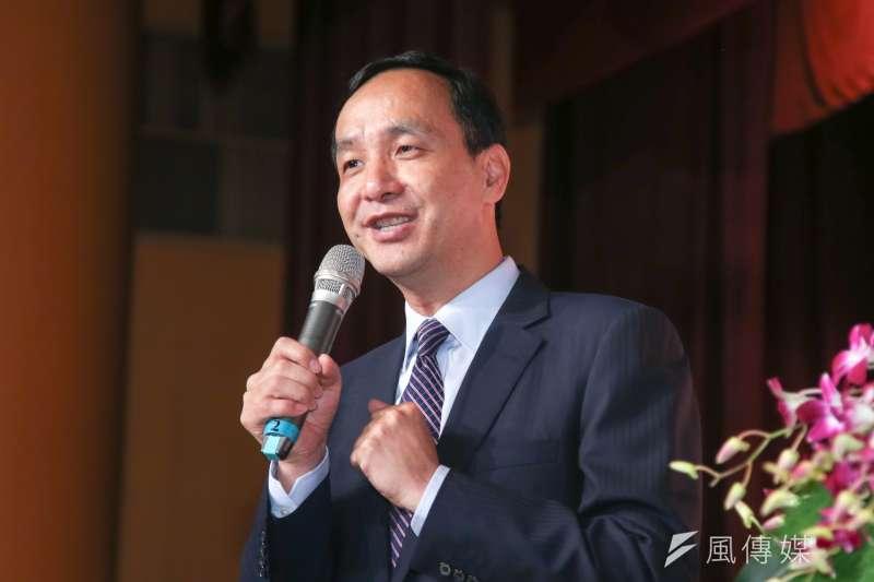 對於外傳2020年將與吳敦義組成「吳朱配」參選總統,朱立倫7日回應,會先把市長做好。(資料照,陳明仁攝)