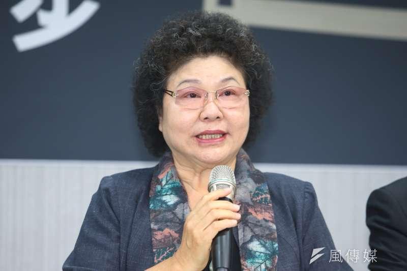 針對前台北市長郝龍斌認為中南部不需建軌道,高雄市長陳菊痛批,「飽漢不知餓漢饑」,非常遺憾。(陳明仁攝)
