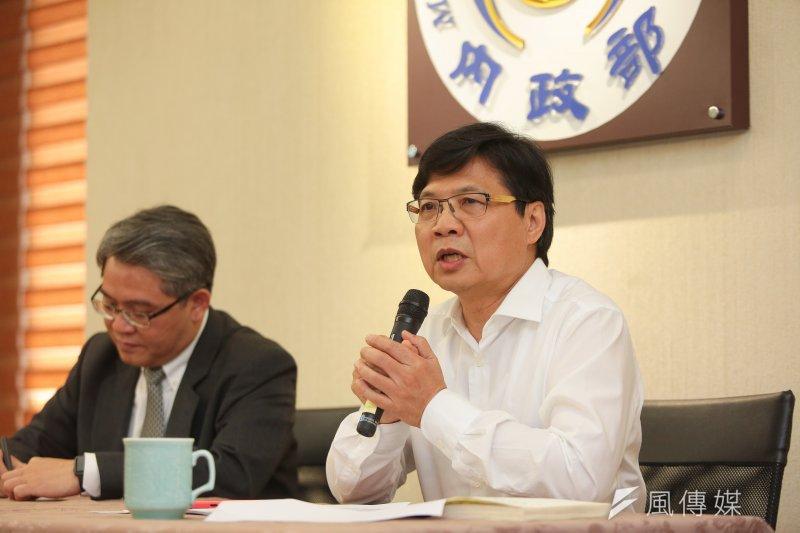 內政部長葉俊榮10日出席「內政部施政週年成果與展望」記者會。(顏麟宇攝)