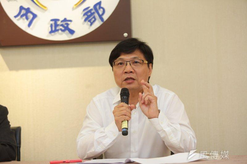 內政部長葉俊榮10日表示,警察是讓社會能合理表達意見、解決衝突的基礎,「這個社會一定要挺警察!」(顏麟宇攝)