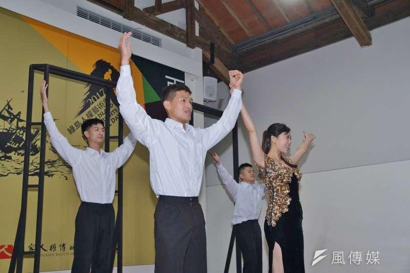 20170511-再見火燒島,綠島人權藝術季活動記者會,綠島百合戲劇表演。(盧逸峰攝)