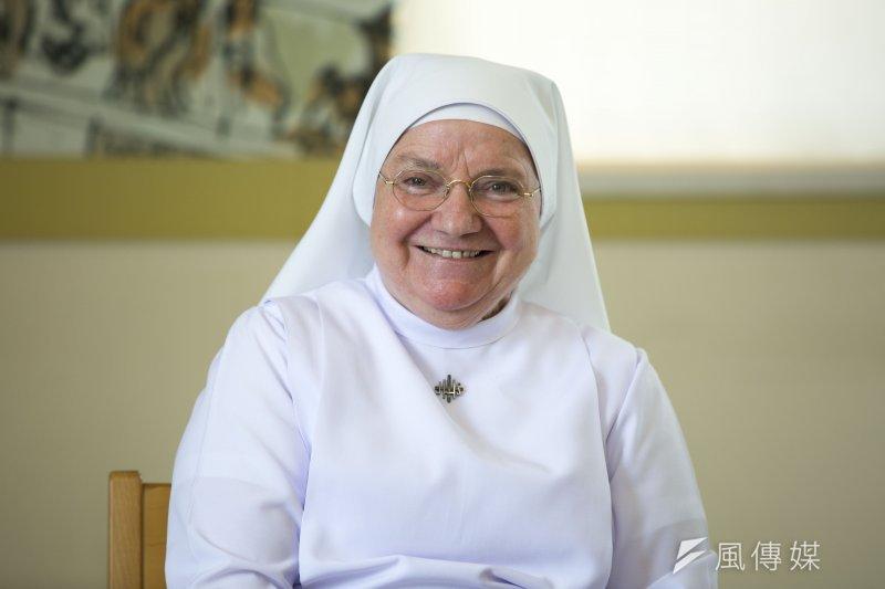 在台奉獻52年的義大利修女裴嘉妮,將成首位新竹市「特殊功勳歸化國籍」之市民。 (新竹市政府提供)
