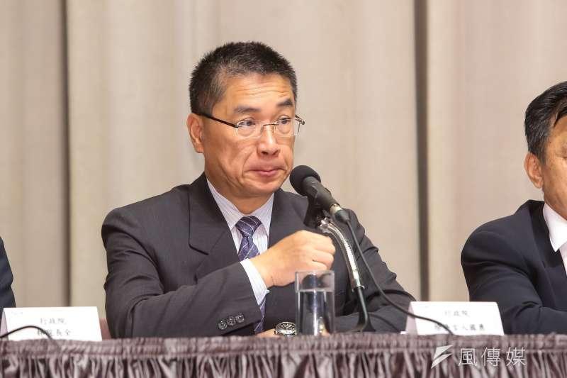 20170511-行政院發言人徐國勇11日於院會後出席會後記者會。(顏麟宇攝)