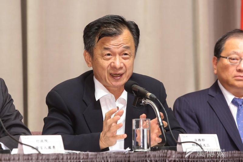 20170511-法務部長邱太三11日於院會後出席會後記者會。(顏麟宇攝)