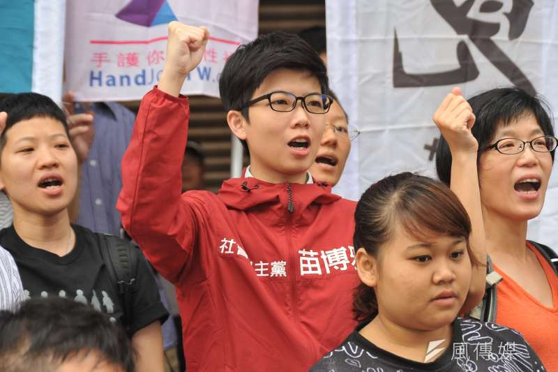 社民黨台北市議員參選人苗博雅成功拿下大安、文山區,成為第三勢力中少數勝選的議員。(資料照,甘岱民攝)