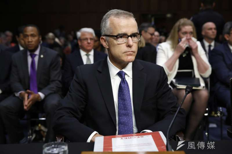 FBI前副局長麥凱布(Andrew McCabe)16日遭司法部長賽辛斯開除,距離退休僅剩2天。(AP)
