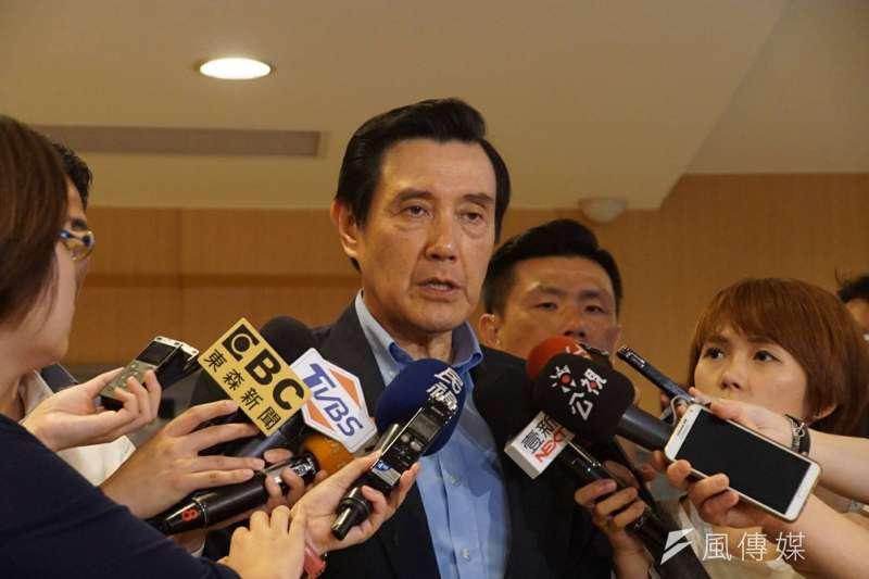 前總統馬英九指出,聯合國1989年的「公政公約第二任擇廢死議定書」,加入的國家才有廢死義務,我國並未加入。(盧逸峰攝)