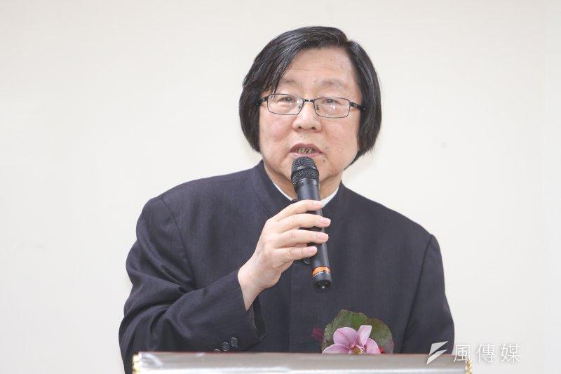 亞東關係協會.更名為「台灣日本關係協會」會長邱義仁(陳明仁攝)