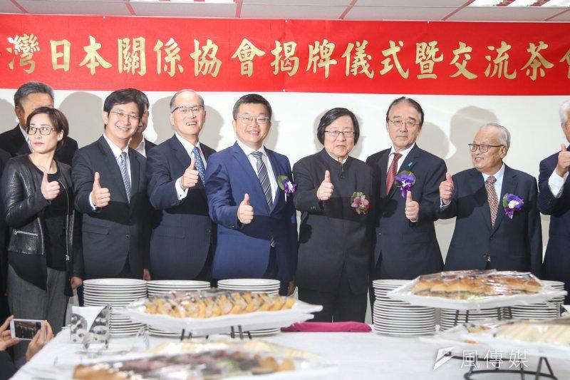 「亞東關係協會」更名為「台灣日本關係協會」17日舉行揭牌儀式暨茶會。(陳明仁攝)