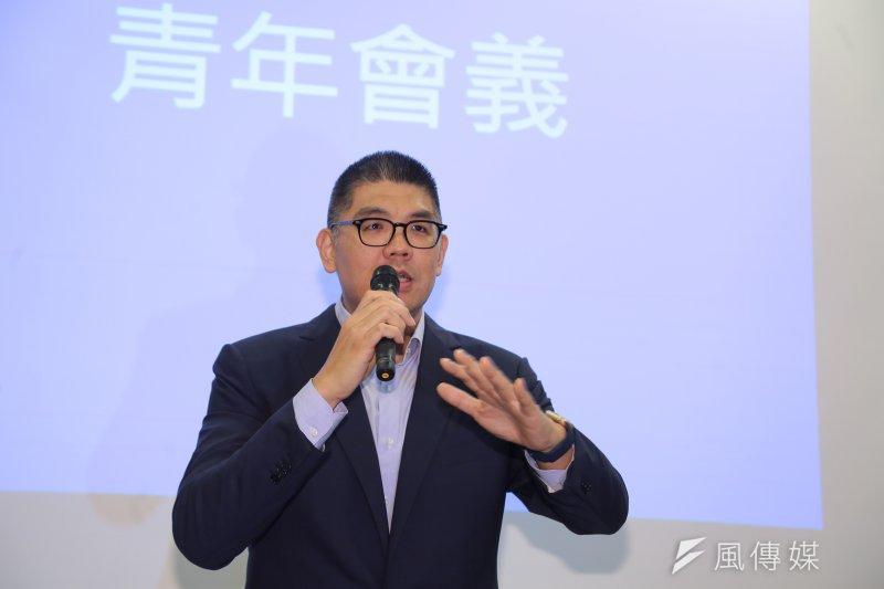 青發會執行長連勝文批評跳電事件。(資料照片,顏麟宇攝)
