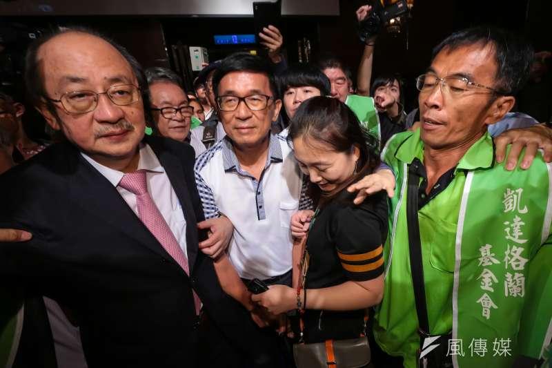 前總統陳水扁日前向台中監獄申請為兒子陳致中站台獲准,但須遵循「四不」原則。(資料照,顏麟宇攝)
