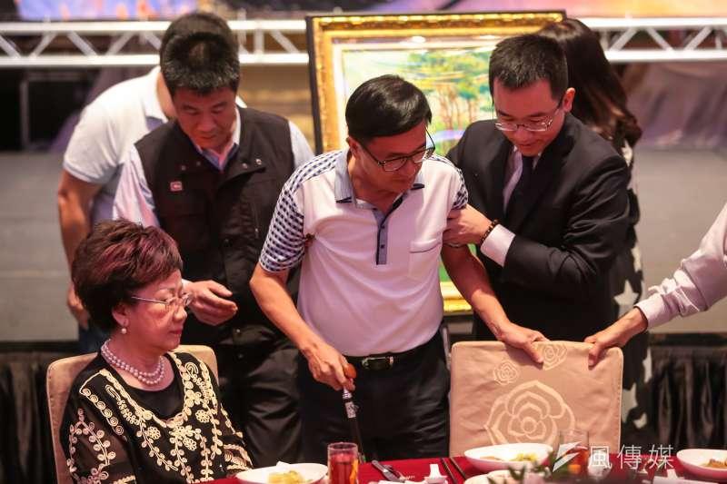 中監有條件同意前總統陳水扁出席音樂會,圖為前總統陳水扁19日出席凱達格蘭基金會募款餐會。(顏麟宇攝)