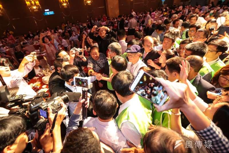 500多位黨代表連署提案,要求特赦陳水扁。圖為前總統陳水扁19日出席凱達格蘭基金會募款餐會。(顏麟宇攝)