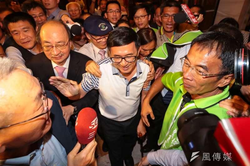 20170519-前總統陳水扁19日出席凱達格蘭基金會募款餐會。(顏麟宇攝)