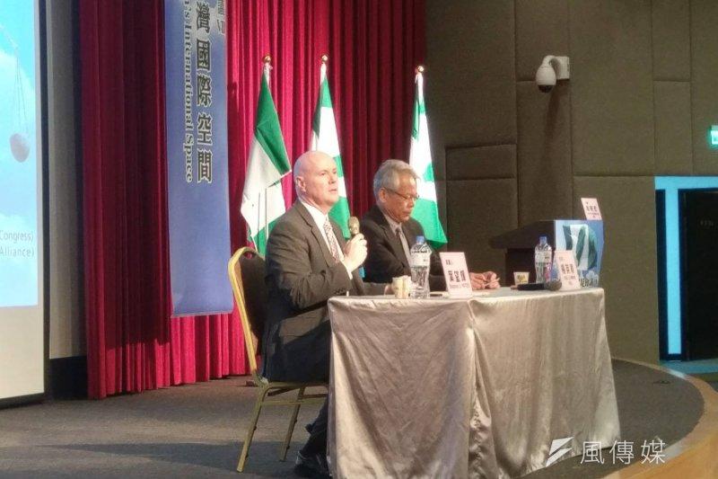 美國愛達荷州共和黨主席葉望輝21日表示,台灣可以先從理念與情況相似的地區開始建立國際關係,也強調「國際空間不只是聯合國或是WHA」。(陳俐穎攝)