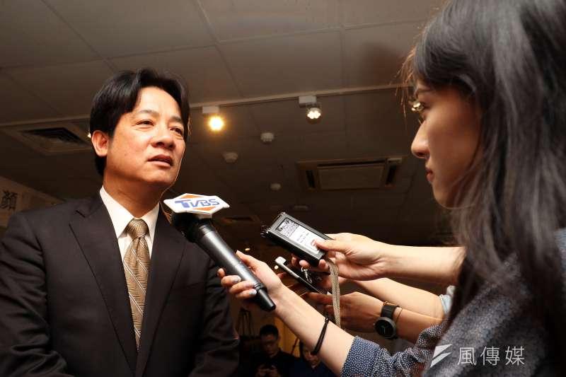 20170523-台南市長賴清德下午在台北出席「閱讀專書新書發表會」活動,會前接受媒體訪問。(蘇仲泓攝)