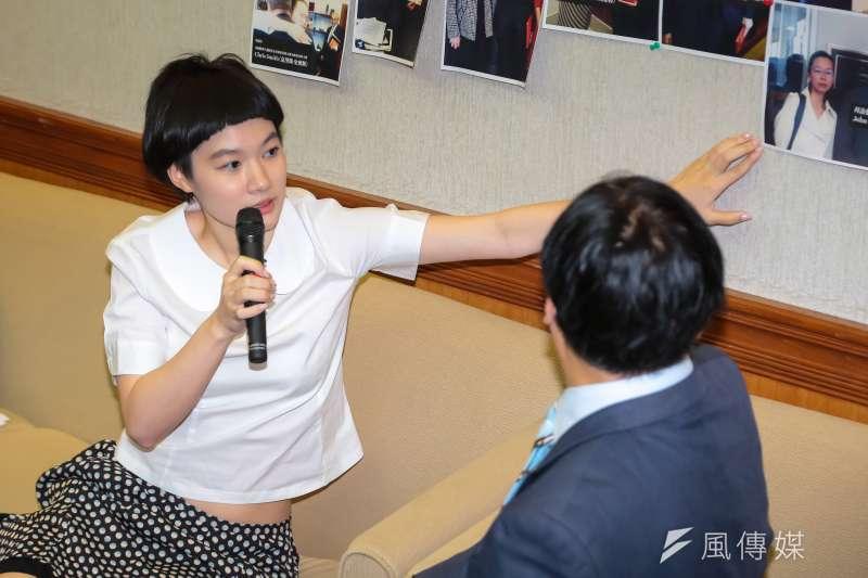 20170523-施明德女兒施笳23日出席「李明哲國際救援小組返台記者會」。(顏麟宇攝)