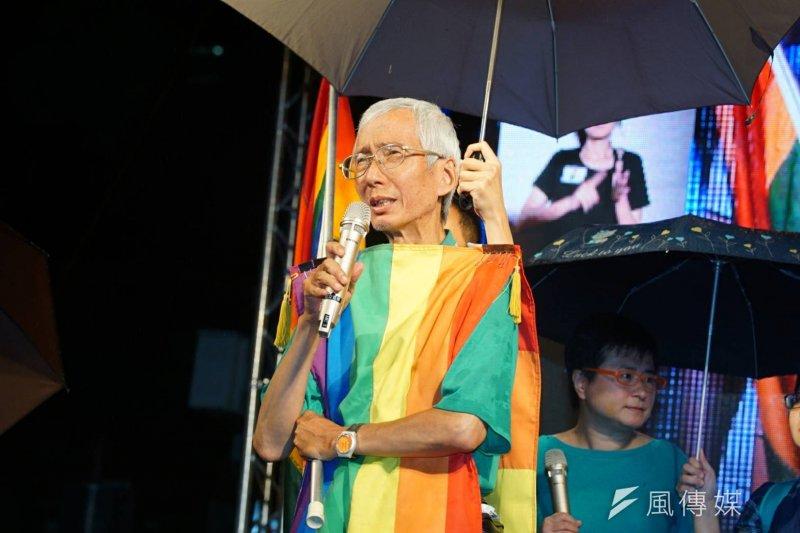 大法官作出釋字第748號解釋,宣告《民法》不允許同性結婚的規定違憲,讓反同者擔心同性臉者會增加,但是釋憲聲請人祈家威今(26)日表示,同婚是為了讓人有更公平、自由的選擇。(資料照,盧逸峰攝)
