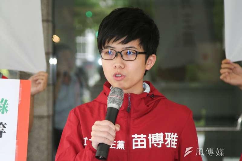 作者認為,網友為攻擊苗博雅,將獨裁者和同志婚姻類比本來就是去脈絡化的謬誤。(資料照,陳明仁攝)