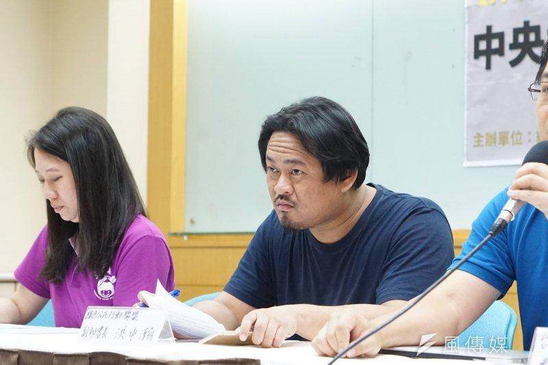 20170525-「抑制尖峰,不能只是緊急作戰」記者會,綠色公民行動聯盟洪申瀚出席。(盧逸峰攝)