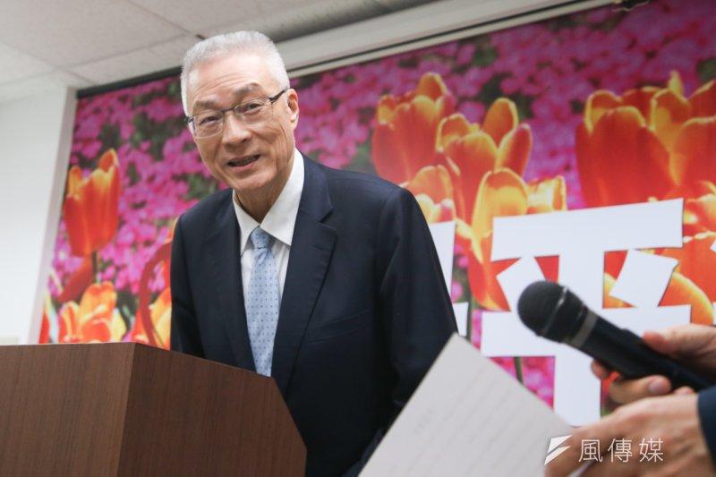 國民黨主席當選人吳敦義召開「愛是平等」記者會,說明對同婚的看法,但黨內有不同看法。(資料照片,陳明仁攝)