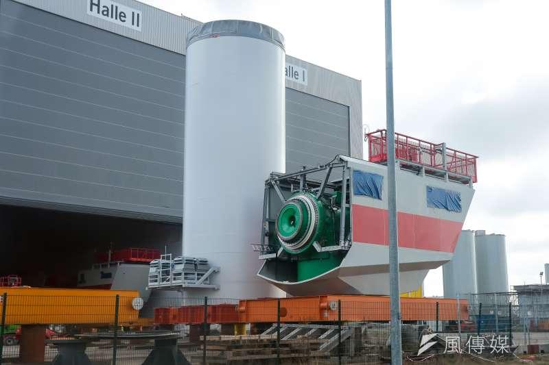 德國離岸風電專題。布萊梅哈芬風機工廠。(顏麟宇攝)