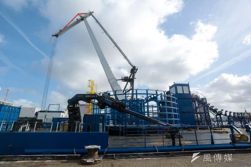 德國離岸風電。布萊梅哈芬風機維修商所需的海事工程人員訓練中心。(顏麟宇攝)