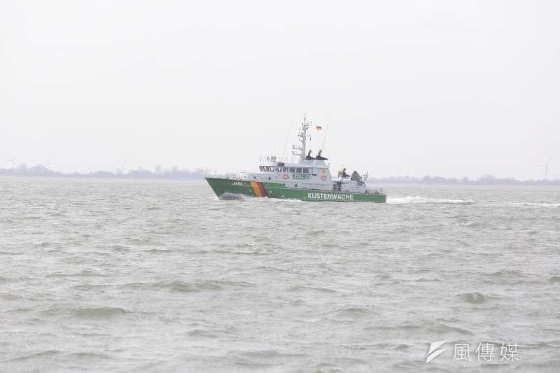 德國離岸風電專題。環團船隻。(顏麟宇攝)