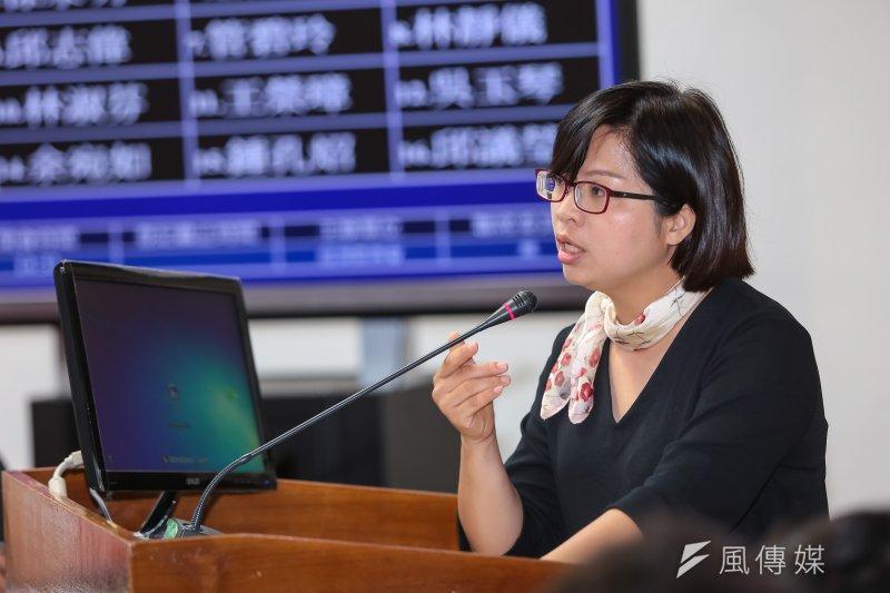 民進黨立委林淑芬為北農人事批評台北市長柯文哲。(資料照片,顏麟宇攝)