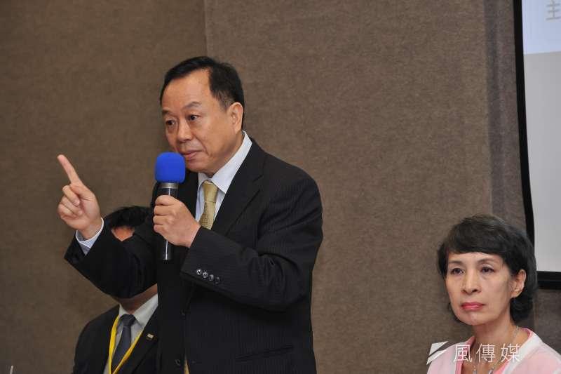 20170603-「人民期待的司法改革座談會」,法治時報社長黃越宏。(甘岱民攝)